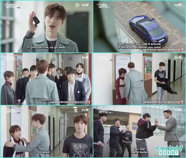 hyun min gave ha won her uniform and ji woon left - Cinderella and Four Knights - Episode 6 Review -