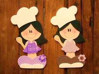 Jardim Colorido Da Tia Suh Bonecas Vestidas De Cozinheiras Em Eva
