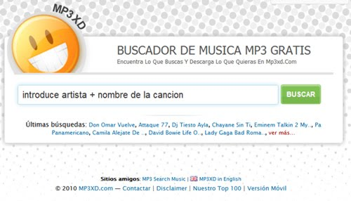 MP3XD: Baja Musica Desde Tu Movil GRATIS