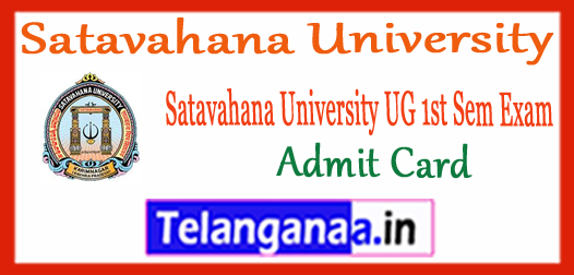 Satavahana University UG 1st Semester Exam Hall Tickets 2018