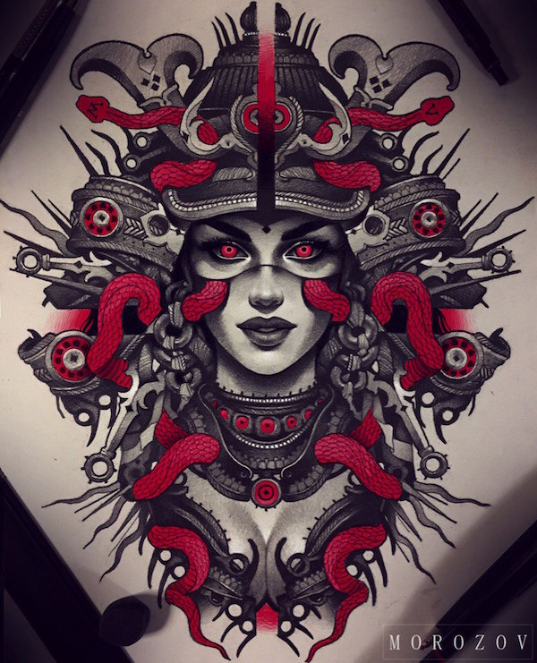 Foto de un tatuaje de estilo original