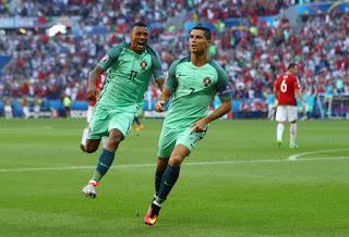 Nani and Ronaldo in Portugal