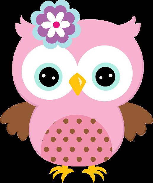 Quinceanera Owls In Colors Clipart. Quinceaneras