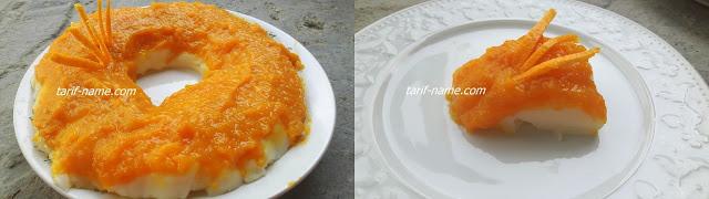 Kek kalıbında muhallebili bal kabağı tatlısı tarifi