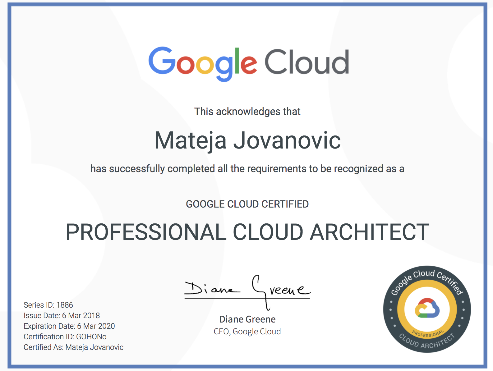 Welcome To Mats Cloud How I Passed Google Certified Professional