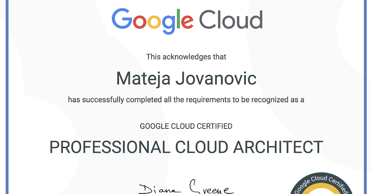 Welcome To Mat S Cloud How I Passed Google Certified Professional