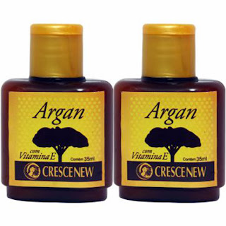 Óleo de argan puro crescenew com 2 unidades
