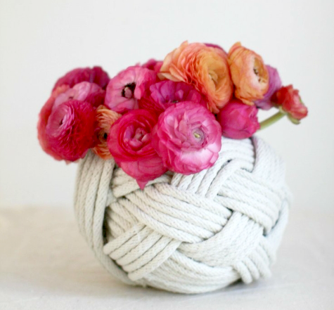 braided rope vase