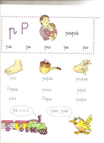 BLOG DE INFANTIL: Ficha de lectura 1: letra p