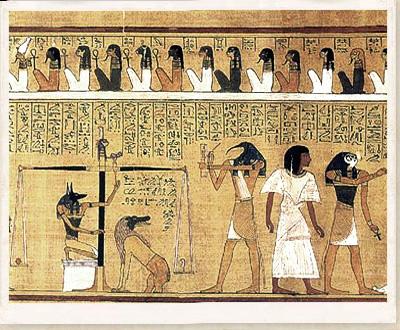 Εικόνα από Από το αιγυπτιακό βιβλίο των νεκρών Ο πάπυρος του απεικονίζει το βάρος της καρδιάς