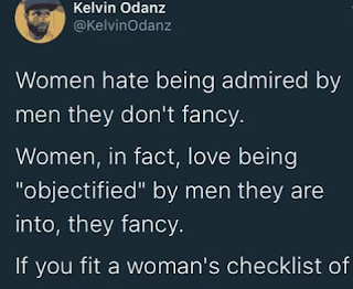 This male Twitter user says women don't mind being objectified by men who are rich and good looking