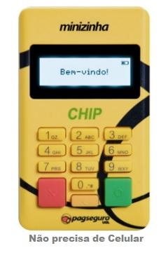 maquina minizinha chip pagseguro