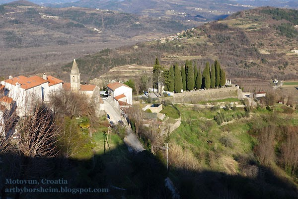 Motovun Truffle Capitol Croatia - Cemetery view from town wall Istria