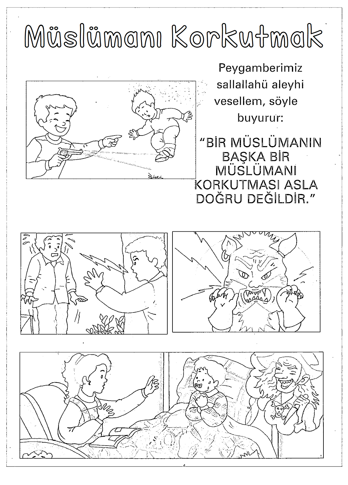 Dindersioyuncom Islami Hayat Boyama Kağıtları