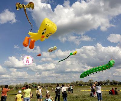 Огромные воздушные змеи в небе под Николаевом, Украина