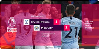 Crystal Palace vs Manchester City 1-2 Video Gol Highlights