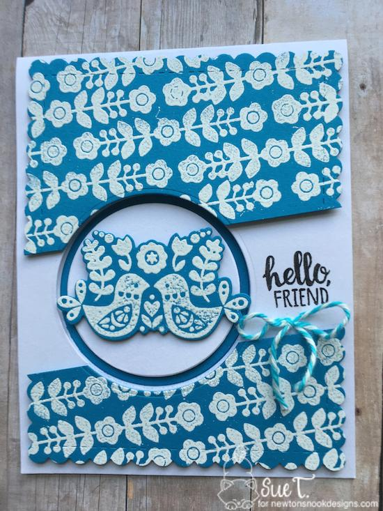 Hello Friend by Sue features Garden Cottage and Frames & Flags by Newton's Nook Designs; #newtonsnook