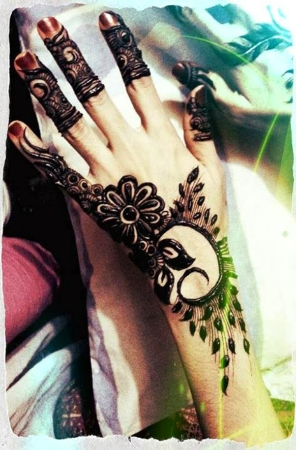 Beautiful But Simple Mehndi Design 2014 for Girls | All ...  Beautiful But S...