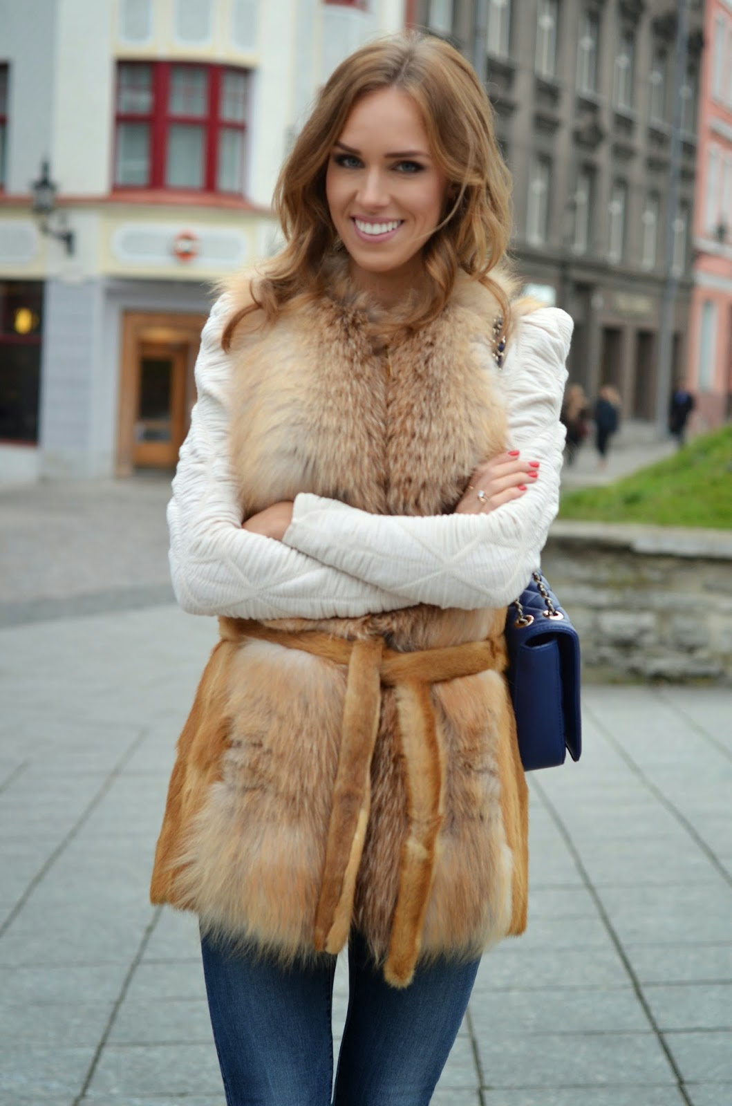 real-fox-fur-vest-luxury-fashion kristjaana mere kristjaana mere