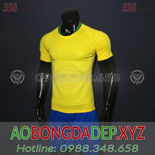 Áo Ko Logo Brazil 2018 Màu Vàng Đẹp