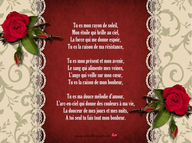 Assez Poèmes d'amour romantique et sensuel | AMOUR SMS NB25