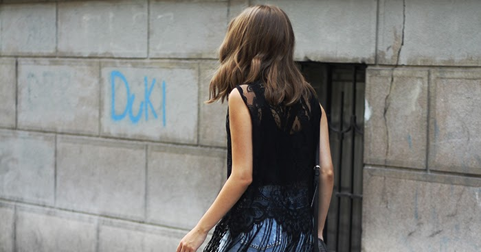 Fashion And Style Fringe Lace Top