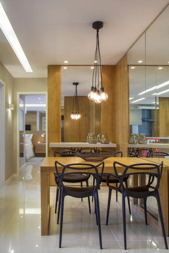 Sala Pequena Projetada ~ Decoração 15 Salas de jantar pequenas com mesas encostadas  Jeito