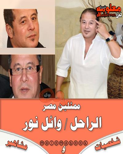 معلومات شخصية - ممثل مصري -