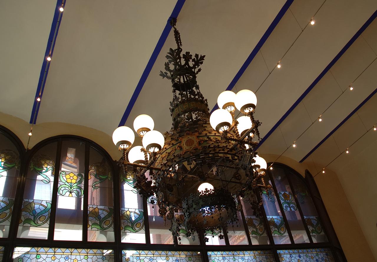 Art Nouveau Lamp at Palau de la Musica Catalana