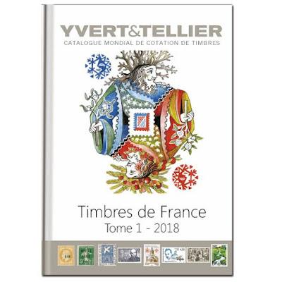 Yvert Tellier postimerkkiluettelo ranska 2018