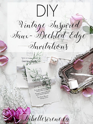 Wedding Wednesday | DIY Vintage Inspired Deckled Edge Invitations | labellesirene.ca