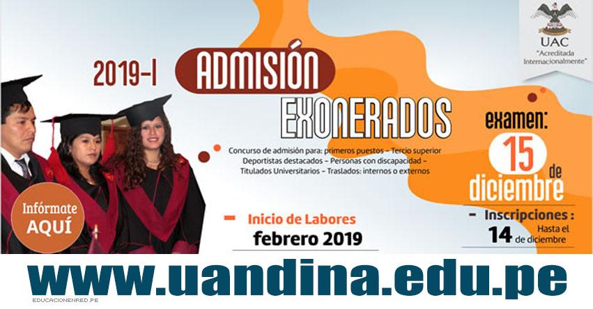 Resultados UAC 2019-1 (15 Diciembre) Lista de Ingresantes Examen Admisión Exonerados - Universidad Andina del Cusco - UANDINA - www.uandina.edu.pe