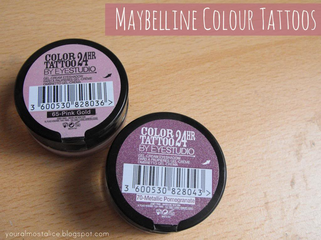 Maybelline Colour Tattoos (Pink Gold & Metallic Pomegranate)