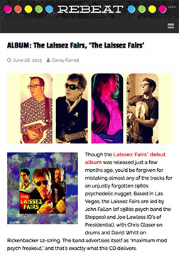 REBEAT webzine reviews The Laissez Fairs debut album