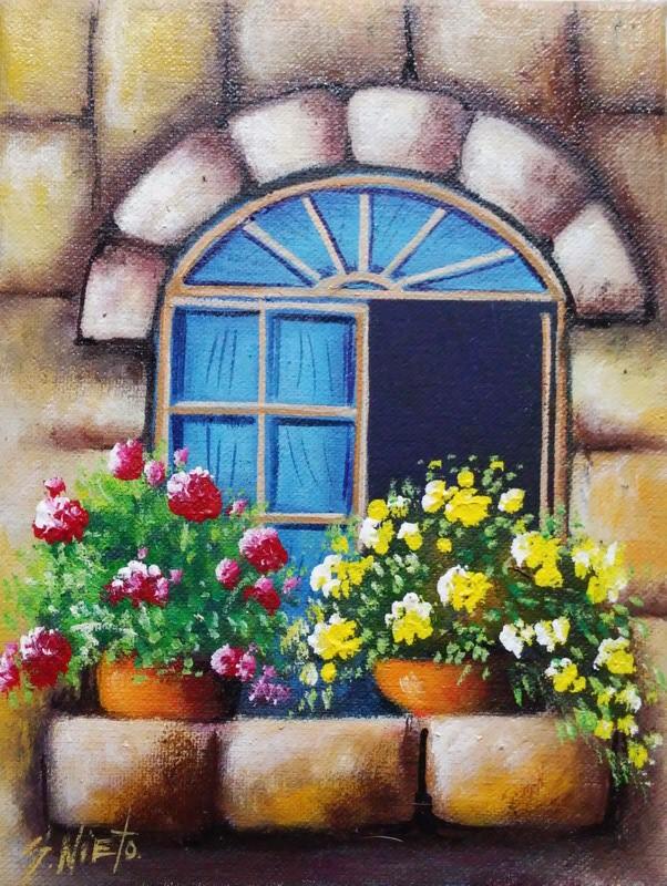Cuadros modernos pinturas y dibujos cuadros de balcones - Pintura para fachadas ...