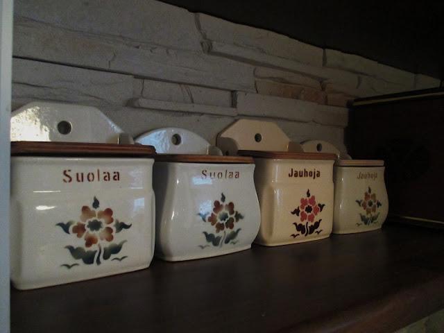salkkarit, arabian purkit, suolapurkki, jauhopurkki, vintage