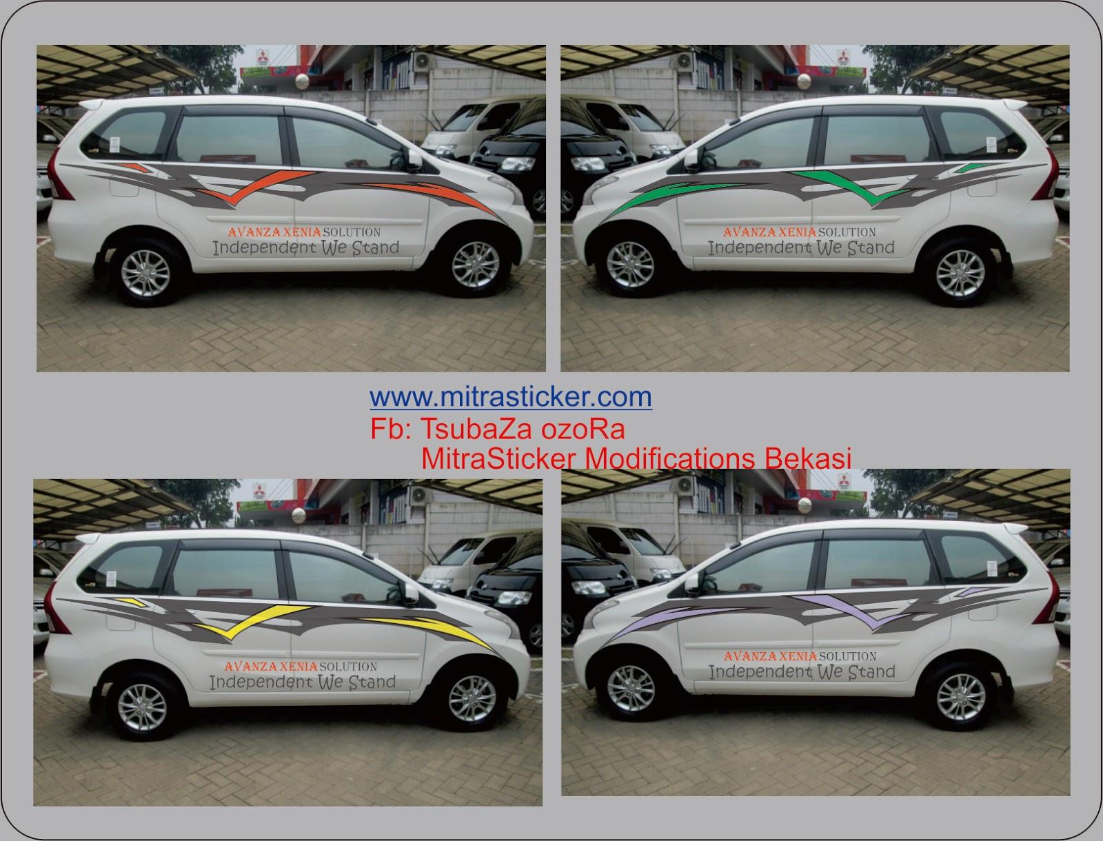 cutting sticker grand new avanza bodykit top mobil xenia silver terbaru modifotto