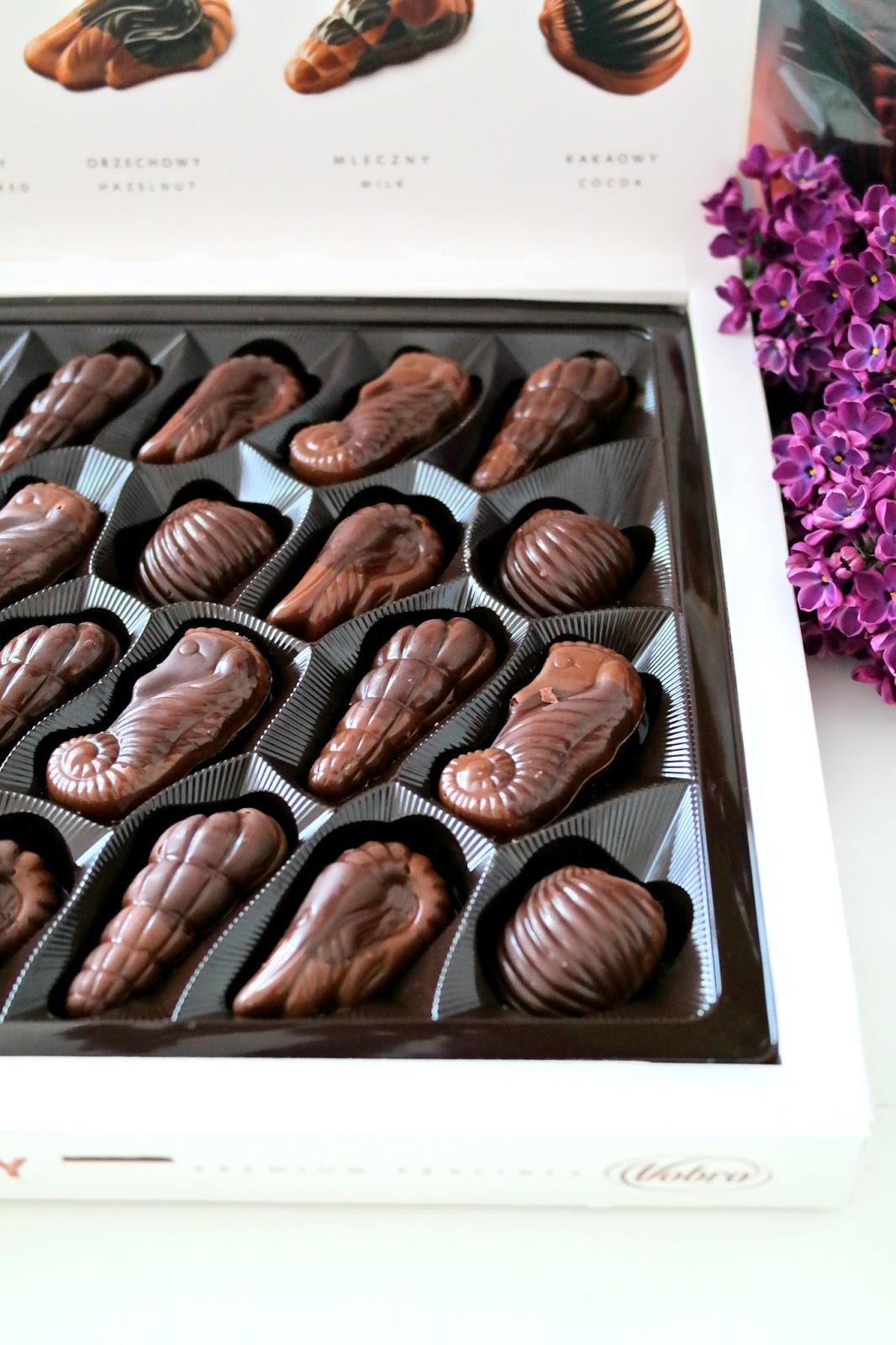eleganckie czekoladki na prezent