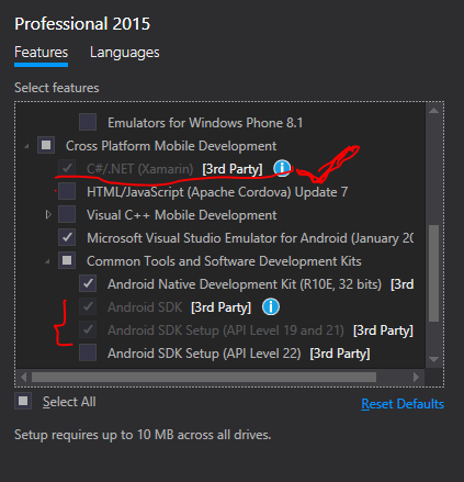 Install android sdk tools visual studio 2015 | Visual Studio 2015 (C