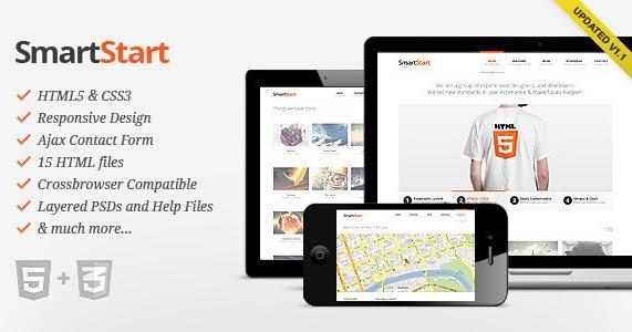 Smartstart Responsive Html5 Template Bubbi WordPress Themes Html Templates Joomla Psd Zen Cart