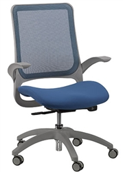 Eurotech Hawk Chair with Blue Mesh Back and Seat