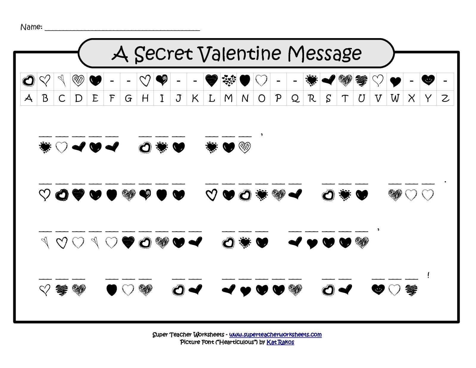 7 Valentine Word Scramble Puzzles