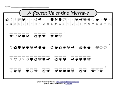 Valentine Word Scramble 3