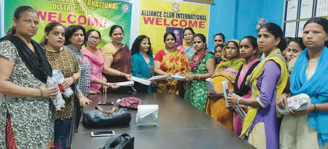 Alliance Club International distributed seminar naphkin to women workers in IMT Company