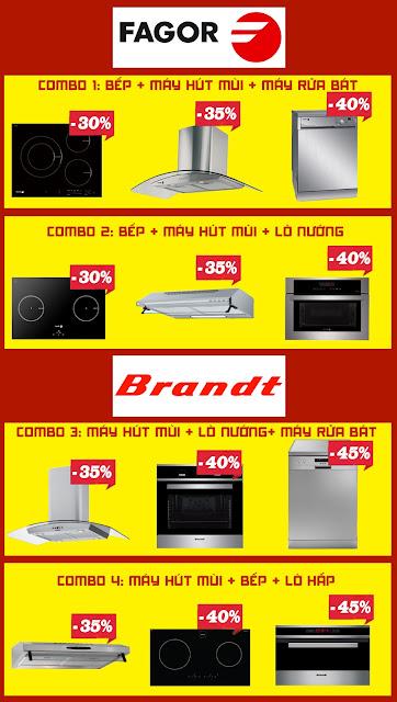 Khuyến mãi cực khủng thiết bị nhà bếp Fagor và Brandt lên tới 50%