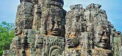 Ангкор-Ват, Камбоджа. Ankor Wat, Cambodia, статуи, самый большой в мире буддийский храм