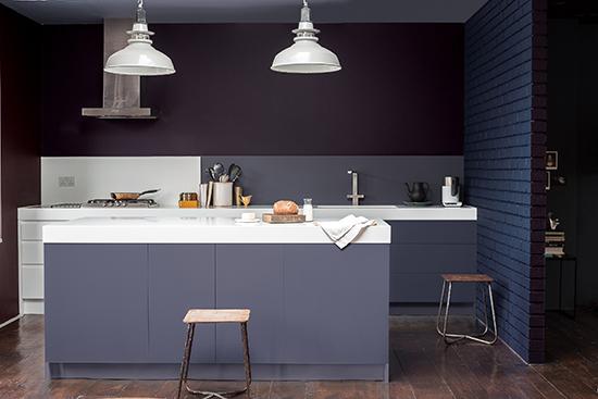 cozinha americana, cozinha cinza, colour dutures, tintas coral