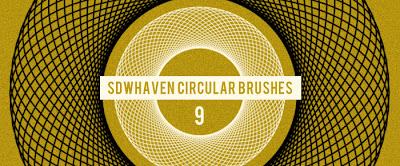 9 pinceles circulares