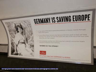 Carteles publicitarios en el metro de Londres