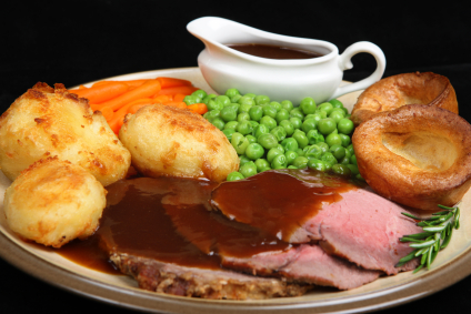 Roast Beef & Yorkshire Pudding with gravy